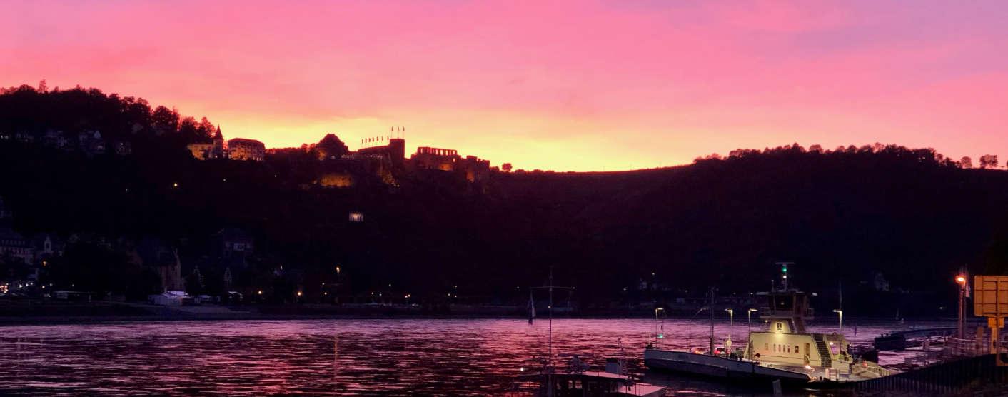 Sonnenuntergang Burg Rheinfels