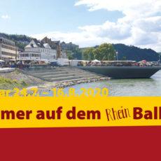 Plakat Sommer auf dem Rheinbalkon