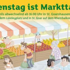 Dienstags: Treffpunkt gemeinsamer Markt