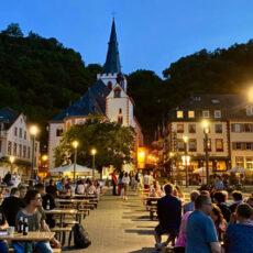 Sommerabend auf dem Rheinbalkon