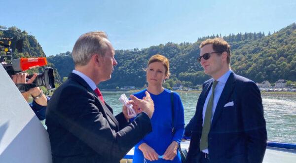 Prinzessin und Prinz von Preußen mit Stadtbürgermeister Falko Hönisch
