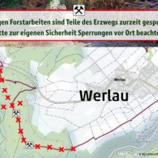 Erzweg bei Werlau teilweise gesperrt