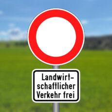 Durchfahrt verboten – Land- und forstwirtschaftlicher Verkehr frei