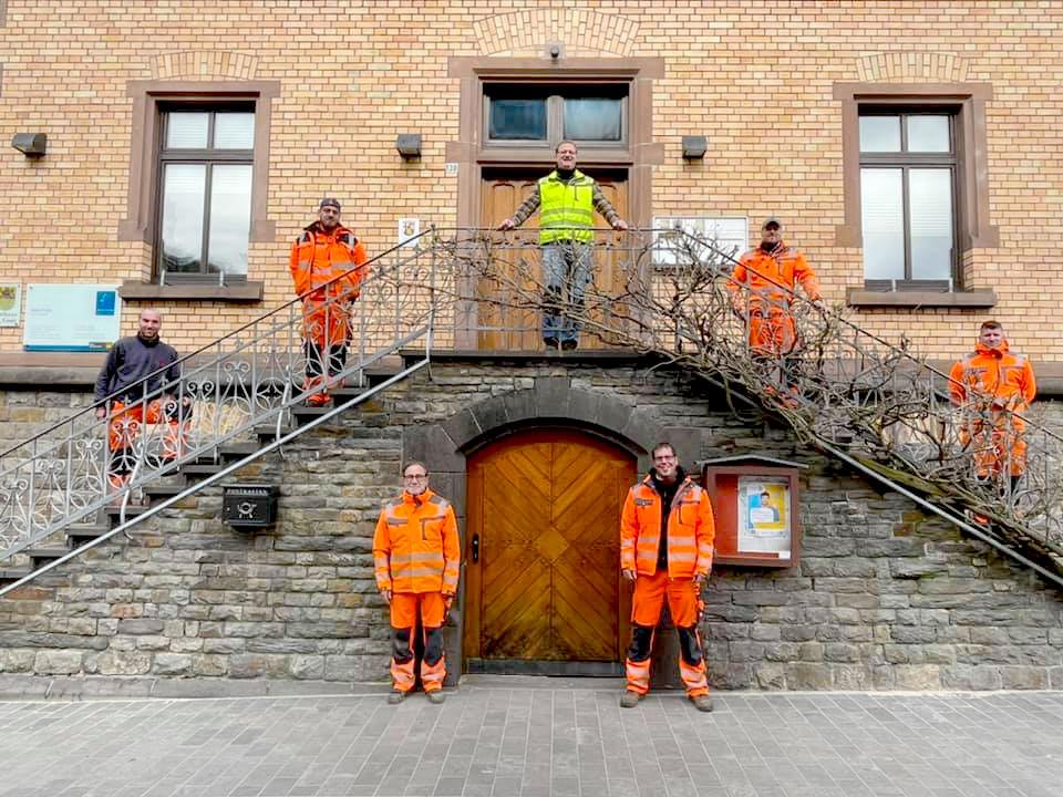 Die städtischen Mitarbeiter des Bauhofs von St. Goar