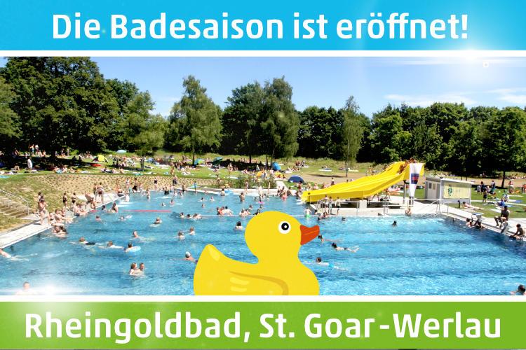 Das Rheingoldbad in St. Goar-Werlau. Ein modernes Freischwimmbad.