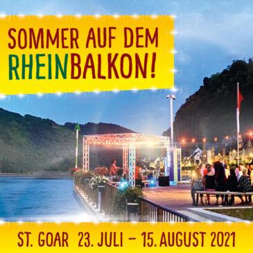 Sommer auf dem Rheinbalkon