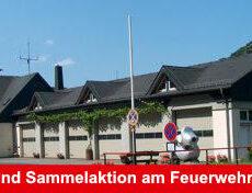 Spenden- und Sammelaktion am Feuerwehrgerätehaus